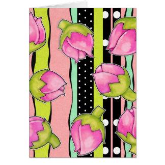 Rosebud Joy color pattern Note Card