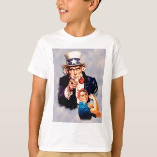 Rosie el diseño del remachador y del tío Sam Camiseta