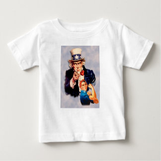 Rosie el diseño del remachador y del tío Sam Camiseta De Bebé