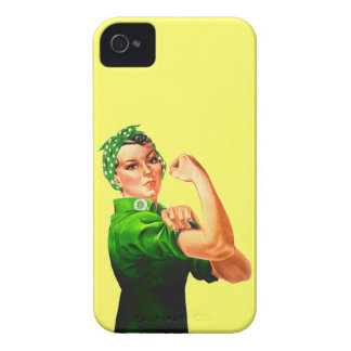 Rosie el remachador - militar verde iPhone 4 Case-Mate coberturas