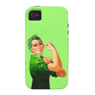 Rosie el remachador - militar verde iPhone 4 funda