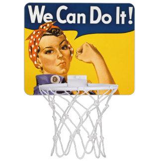 Rosie el remachador podemos hacerlo vintage retro mini tablero de baloncesto