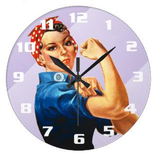 Rosie el remachador reloj redondo grande