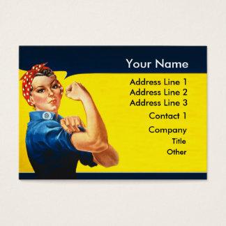 Rosie la trabajadora de esfuerzo de la guerra del tarjeta de negocios