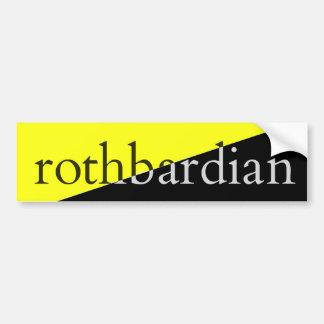 Rothbardian Pegatina Para Coche