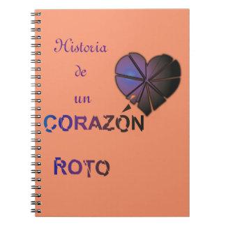 Roto del corazon de Historia de la un Cuaderno