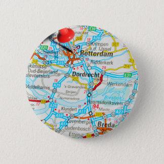 Rotterdam, los Países Bajos Chapa Redonda De 5 Cm