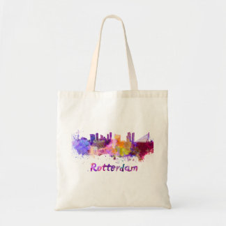 Rotterdam skyline in watercolor bolso de tela