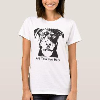 Rottweiler añade su texto camiseta