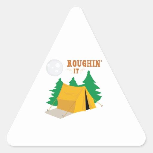 Roughin él pegatina de triangulo