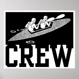 Rowing del equipo póster