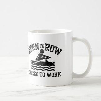 Rowing divertido tazas de café