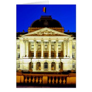 Royal Palace de Bruselas Tarjeta De Felicitación