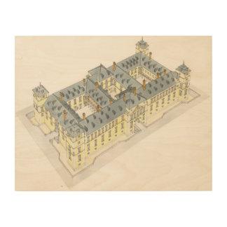 Royal Palace del EL Pardo. Madrid España Impresión En Madera