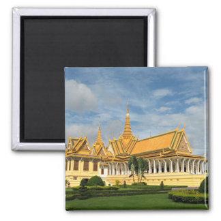 Royal Palace, Phnom Penh, Camboya Imán Cuadrado