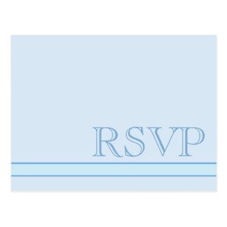 RSVP azul básico Postal