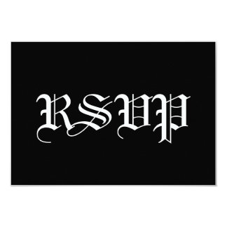 RSVP blanco y negro que casa la respuesta A006 Comunicado Personalizado