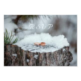 RSVP--Boda del invierno Invitación 8,9 X 12,7 Cm