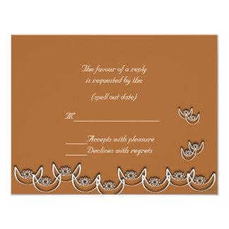 rsvp de la mandarina del nsoroma del ne del osram invitacion personal