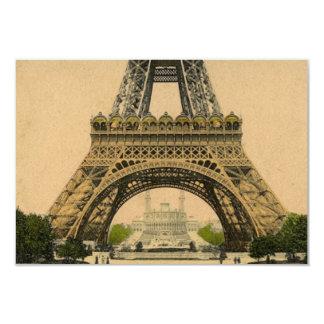 Rsvp de la torre Eiffel de la postal de París del Invitación 8,9 X 12,7 Cm