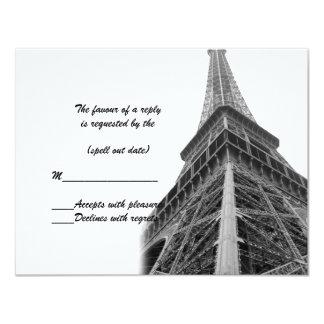 rsvp de la torre Eiffel i Invitación 10,8 X 13,9 Cm