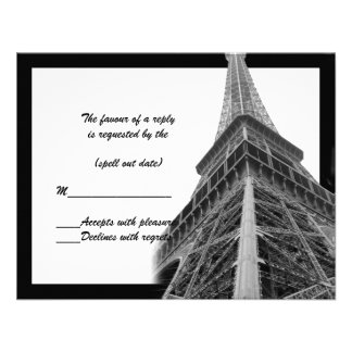 rsvp de la torre Eiffel ii Invitacion Personalizada