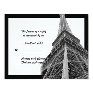 rsvp de la torre Eiffel ii Invitación 10,8 X 13,9 Cm