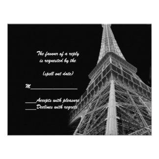rsvp de la torre Eiffel Anuncios Personalizados