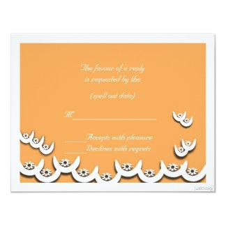 rsvp de la zanahoria del nsoroma ii del ne del invitación 10,8 x 13,9 cm
