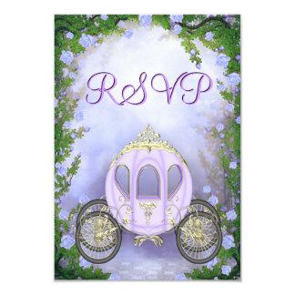 RSVP de princesa Carriage Enchanted púrpura Invitación 8,9 X 12,7 Cm