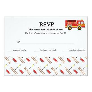 Rsvp del bombero invitación 12,7 x 17,8 cm