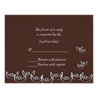 rsvp del chocolate del nsoroma del ne del osram invitación 10,8 x 13,9 cm