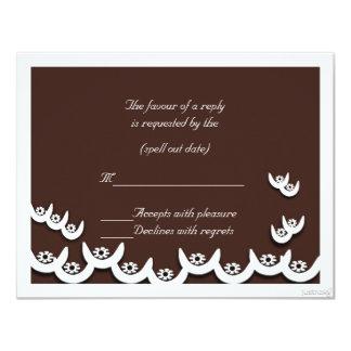rsvp del chocolate del nsoroma ii del ne del osram invitación 10,8 x 13,9 cm