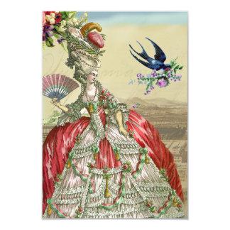Rsvp del de Versalles de los recuerdos Invitación 8,9 X 12,7 Cm