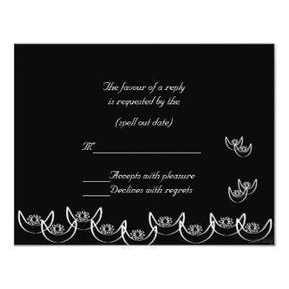 rsvp del nsoroma del ne del osram (fidelidad) invitación 10,8 x 13,9 cm