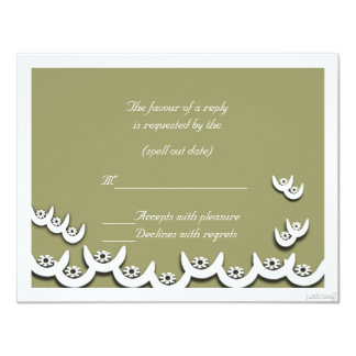 rsvp del olivine del nsoroma ii del ne del osram invitación 10,8 x 13,9 cm