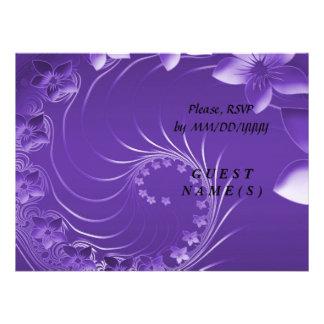 RSVP - flores abstractas violetas Anuncio
