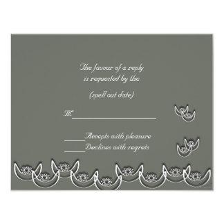 rsvp gris pizarra del nsoroma del ne del osram invitación 10,8 x 13,9 cm
