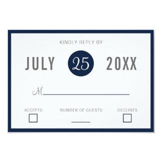 Rsvp moderno de las invitaciones del boda de los invitación 8,9 x 12,7 cm
