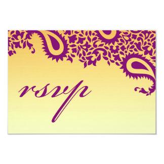 RSVP que casa la tarjeta india del estilo
