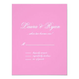 RSVP que casa los rosas rosados de París Francia Invitacion Personalizada
