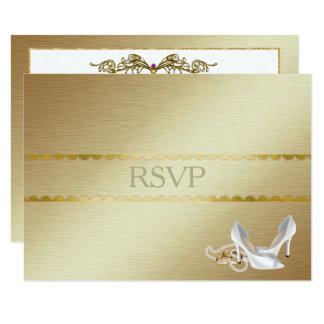 RSVP que se casa gay elegante Invitación 8,9 X 12,7 Cm