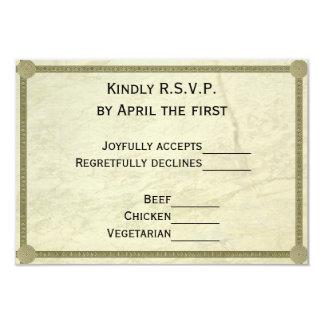 RSVP que se casa griego Invitación 8,9 X 12,7 Cm