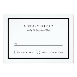 RSVP que se casa minimalista Invitación 8,9 X 12,7 Cm