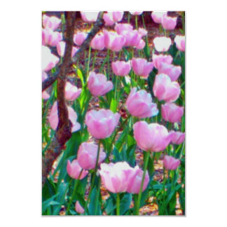 RSVP - tulipanes y dos ramas Invitación 8,9 X 12,7 Cm