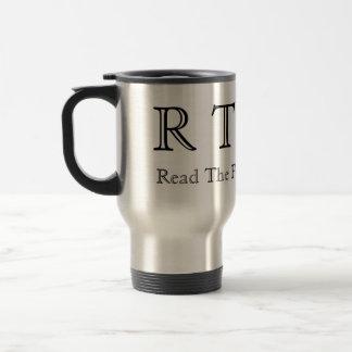 RTFM - Lea el manual de la fábrica Taza Térmica