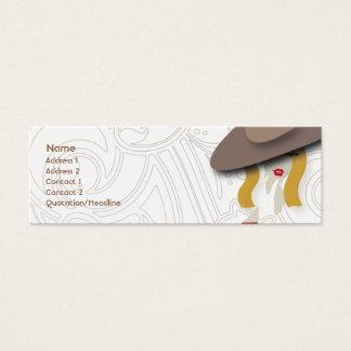 Rubio - flaco tarjeta de visita mini