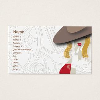 Rubio - negocio tarjeta de visita