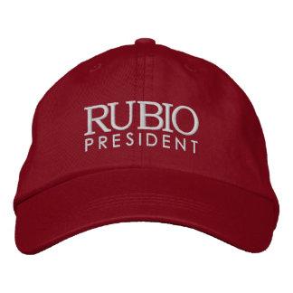 Rubio para el presidente 2016 gorra bordada
