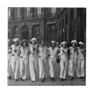 Ruda de la Paix París Francia 1932 de Catherinette Azulejo Cuadrado Pequeño